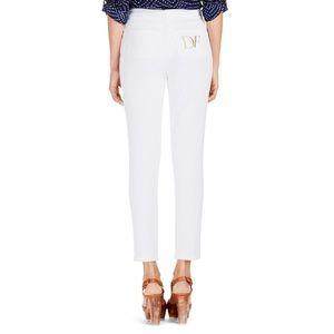 Diane Von Furstenberg White Gali Jeans